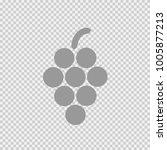grapes vector icon eps 10.... | Shutterstock .eps vector #1005877213