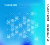 people and users concept in... | Shutterstock .eps vector #1005885907