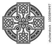 isolated celtic cross from... | Shutterstock .eps vector #1005894997