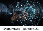 businessman on blurred... | Shutterstock . vector #1005896653