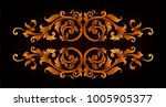 baroque vector of vintage... | Shutterstock .eps vector #1005905377