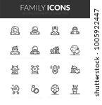 outline black icons set in thin ... | Shutterstock .eps vector #1005922447