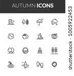 outline black icons set in thin ... | Shutterstock .eps vector #1005922453