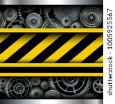 background with warning stripes ... | Shutterstock .eps vector #1005925567