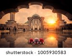 muslim chilgren sin and pray in ... | Shutterstock . vector #1005930583