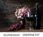 still life visual art of grapes ... | Shutterstock . vector #1005946747