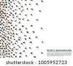 a crowd of people on a white... | Shutterstock .eps vector #1005952723