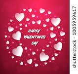 happy valentine day text in a... | Shutterstock .eps vector #1005959617