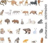 wild animals set | Shutterstock .eps vector #100596043