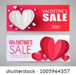 valentines sale limited time... | Shutterstock .eps vector #1005964357