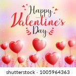 cute happy valentines day... | Shutterstock .eps vector #1005964363