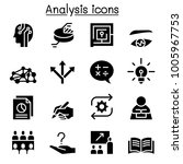 analysis icon set  | Shutterstock .eps vector #1005967753