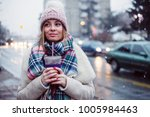 young women on city street... | Shutterstock . vector #1005984463