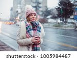 young women on city street... | Shutterstock . vector #1005984487