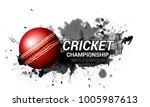 cricket championship batsman... | Shutterstock .eps vector #1005987613