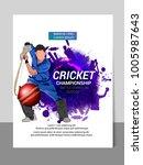 cricket championship batsman... | Shutterstock .eps vector #1005987643