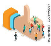 flat isometric male people... | Shutterstock .eps vector #1005990097