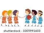 illustration of stickman boys... | Shutterstock .eps vector #1005991603