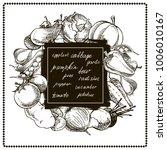 vegetable hand drawn vintage... | Shutterstock .eps vector #1006010167