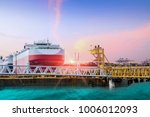 shipping terminal and shipyard  ... | Shutterstock . vector #1006012093