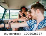 group of friends travelling...   Shutterstock . vector #1006026337