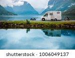 family vacation travel rv ... | Shutterstock . vector #1006049137