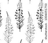vector floral seamless pattern... | Shutterstock .eps vector #1006051753
