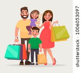 happy family is shopping.... | Shutterstock .eps vector #1006053097