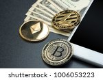 crypto currency litecoin silver ... | Shutterstock . vector #1006053223