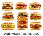 set of various hamburgers... | Shutterstock . vector #1006070827