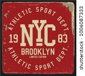 vintage varsity graphics and... | Shutterstock .eps vector #1006087333