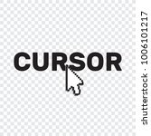 pixel cursors icons mouse hand... | Shutterstock .eps vector #1006101217