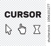 pixel cursors icons mouse hand... | Shutterstock .eps vector #1006101277