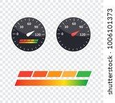guage icon. credit score... | Shutterstock .eps vector #1006101373