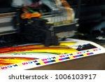 inkjet printer plotter head...   Shutterstock . vector #1006103917