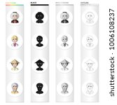 different race of eskimos ... | Shutterstock .eps vector #1006108237