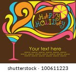 happy holiday card with... | Shutterstock .eps vector #100611223
