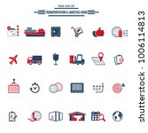 logistics service icon set.... | Shutterstock .eps vector #1006114813