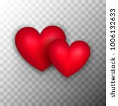 two red hearts. vector... | Shutterstock .eps vector #1006132633