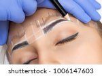 permanent make up for eyebrows... | Shutterstock . vector #1006147603