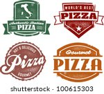 Vintage Style Pizza Graphics - stock vector
