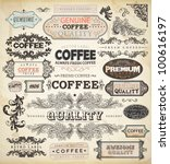 collection of vintage elements... | Shutterstock .eps vector #100616197