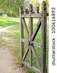 Vintage Wooden Rural Gate ...