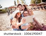 summer holidays  vacation and... | Shutterstock . vector #1006190047