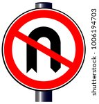 a large round red traffic sign... | Shutterstock .eps vector #1006194703