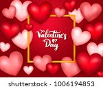 valentines day banner with... | Shutterstock .eps vector #1006194853