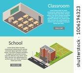 isometric classroom interior... | Shutterstock .eps vector #1006196323