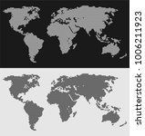hexagonal world map editable... | Shutterstock .eps vector #1006211923