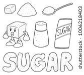 vector set of sugar | Shutterstock .eps vector #1006218403
