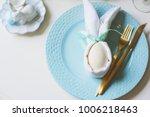 easter festive table. guest... | Shutterstock . vector #1006218463